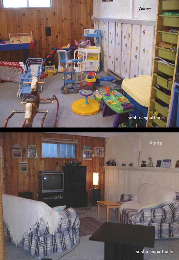 Le Grand ménage. Votre sous-sol restera organisé quand si les espaces sont bien définis et accueillants